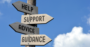 Mental wellbeing, help, support, advice & guidance signpost